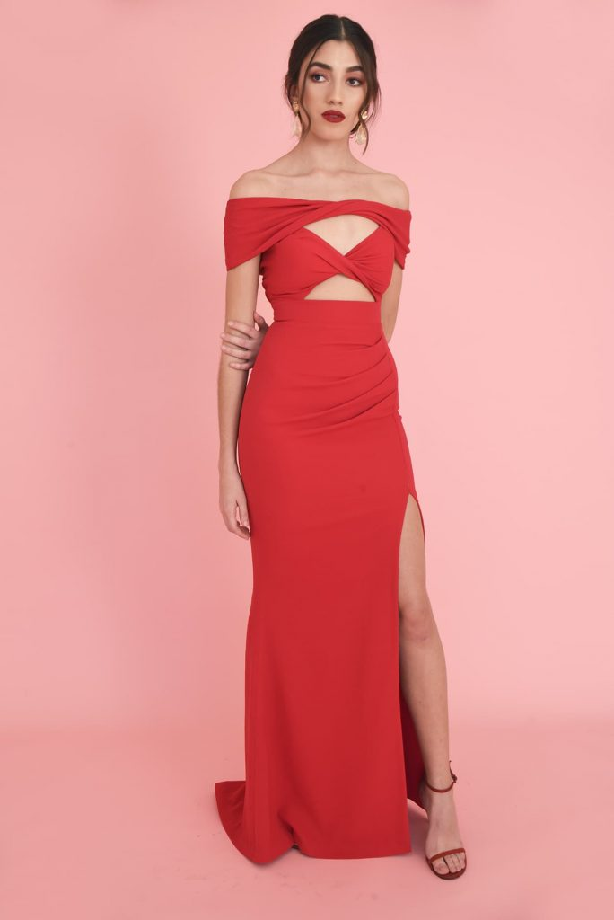 CROSS MY HEART RED GOWN