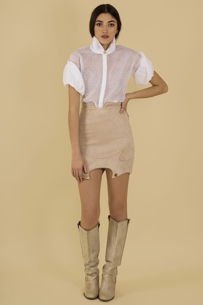 camel cowgirl skirt front
