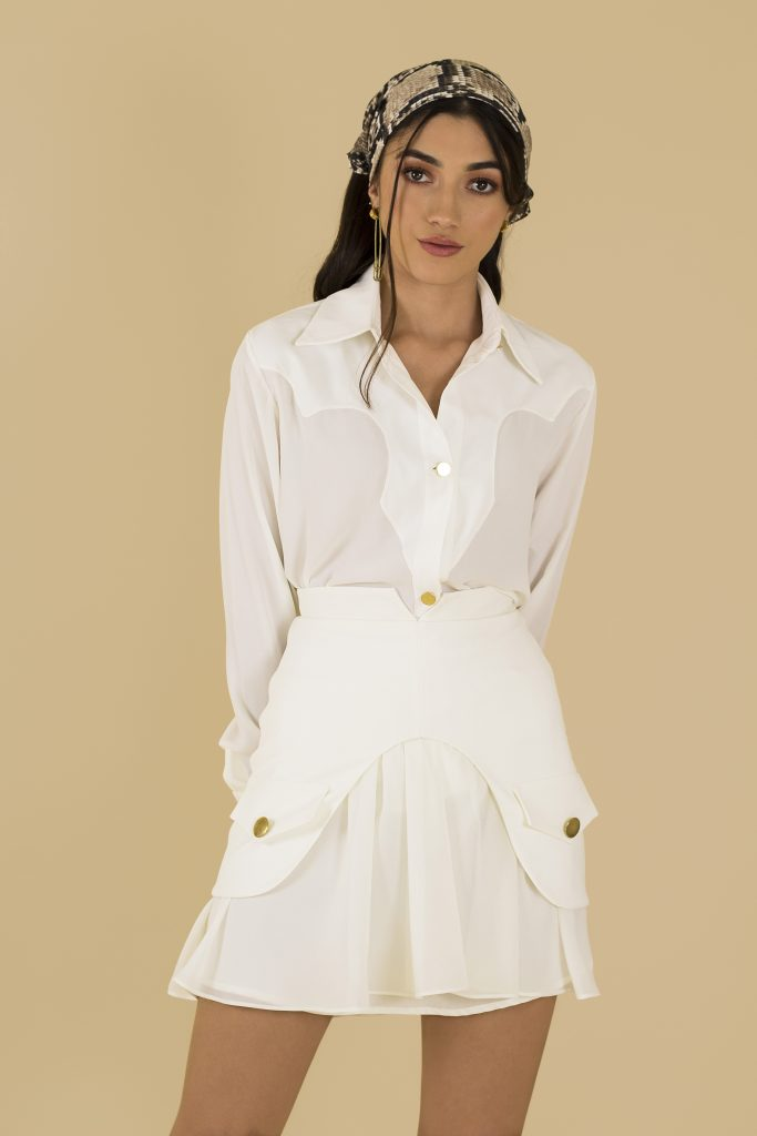 white tennis look front